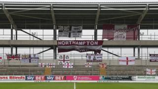 Unfinished East Stand at Sixfields