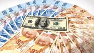 100 Amerikan Doları ile 50 ve 100'lük Türk Lirası banknotları