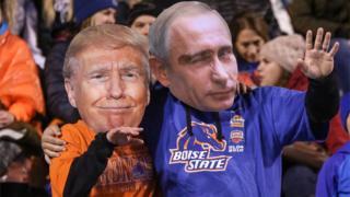 Маски Трампа и Путина