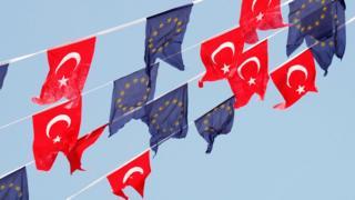 AB, Türkiye bayrakları