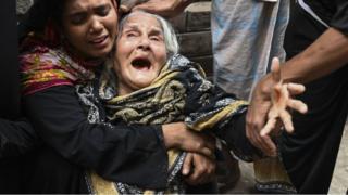 চকবাজার অগ্নিকাণ্ডে স্বজন হারানোর আর্তনাদ
