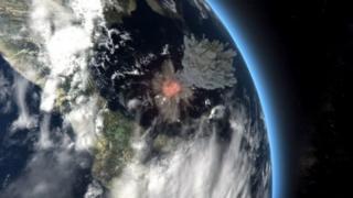 Meteorit toqquşmasının təsviri