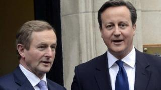 Enda Kenny and David Cameron are due to hold talks later
