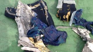 Wreckage from EgyptAir