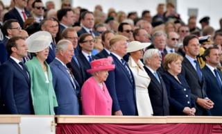 Queen Elizabeth II, President Trump, Prince Charles, Prime Minister Theresa May and many other nation leaders