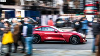 The TVR prototype driving round London