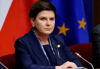 Poland's Prime Minister Beata Szydlo pictured during a European Union leaders summit in Brussels, Belgium on 9 March, 2017.