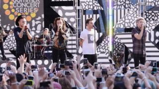 One Direction perform in New York