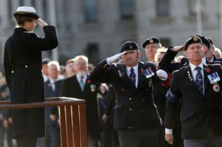 Princess Anne salutes military veterans