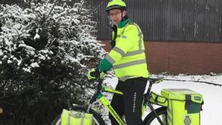 Ian Shortman on his paramedic bike