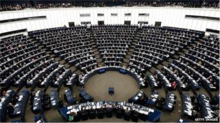 A session of the European Parliament