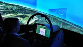 Fighter jet simulation