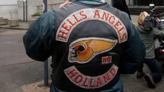 A Hells Angels Holland member. File photo