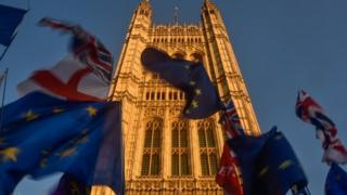 Flags outside Westminster