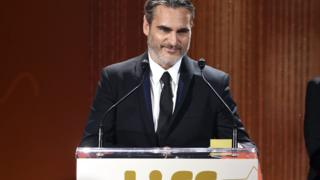 Joaquin Phoenix credits his late brother River for his career in an emotional speech
