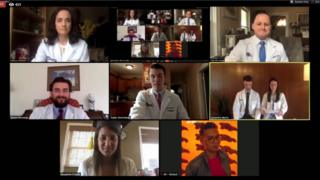 Doctors recited the Hippocratic Oath over zoom at their graduation