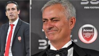 Unai Emery ati Jose Mourinho