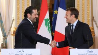 """أكد الرئيس الفرنسي دعوة الحريري وعائلته لزيارة فرنسا مشدداً انه لا يعرض """"منفى سياسيا"""""""