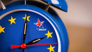 Alarm clock with EU and UK colours