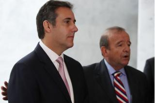 Mr Cohen (left) with his lawyer Stephen M Ryan