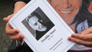 Freddie Starr funeral handout
