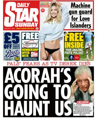 Sunday Star front page 5 January 2020