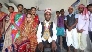 evlenen iki çocuk