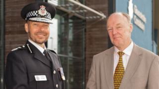 Chief Constable Rod Hansen with PCC Martin Surl