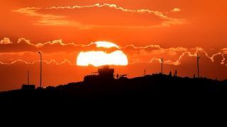 Suriye üzerinde günbatımı