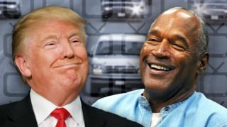 OJ Simpson (right) and Donald Trump in a composite