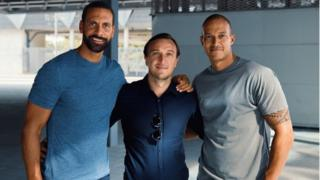 Rio Ferdinand, Mark Noble, and Bobby Zamora