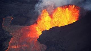 Lava erupts from Kilauea volcano in Hawaii