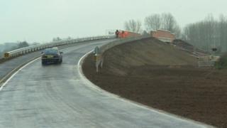 The new road bridge