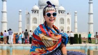 Alice Nettleingham travelling in India