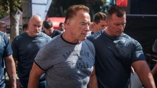 Schwarzenegger yashimiye abakunzi biwe ku mwitwarariko berekanye, avuga ko ata ngorane
