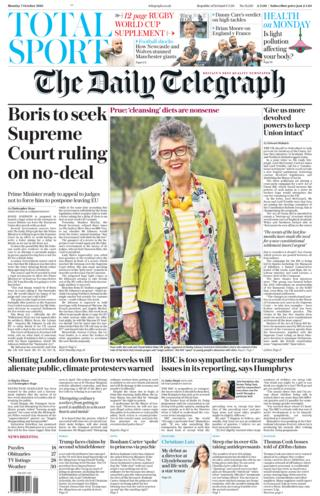 daily telegraph 7 october 2019