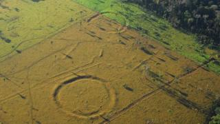 Aerial shot of geoglyph
