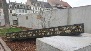 Scene of attack on synagogue memorial, 2 March 2019