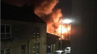 Stonehouse garage fire