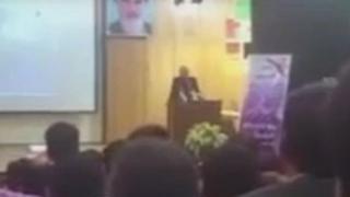 فیلم سخنرانی را خبرگزاری فارس منتشر کرده بود