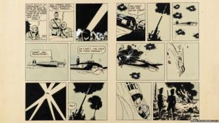 Tintin comic strip by the renowned Belgian cartoonist Herge
