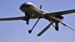 File photo of US Air Force MQ-1B Predator drone aircraft