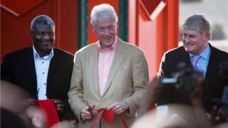 Former US president Bill Clinton reopens the Iron Market.