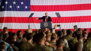 Президент Трамп выступил перед воннослужащими США в Италии в мае