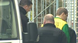 Redvers Bickley arriving at Mold Crown Court
