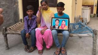 The family of one of the workers, Roop Lal