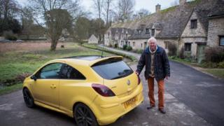 Peter Maddox and his yellow car