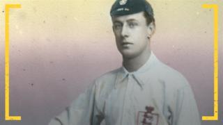 Фред Спиксли в форме сборной Англии