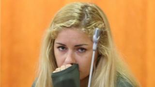 Mayka Marica Kukucova in court, Malaga, Spain
