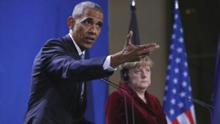 Obama and Merkel in Berlin on 17 November 2016